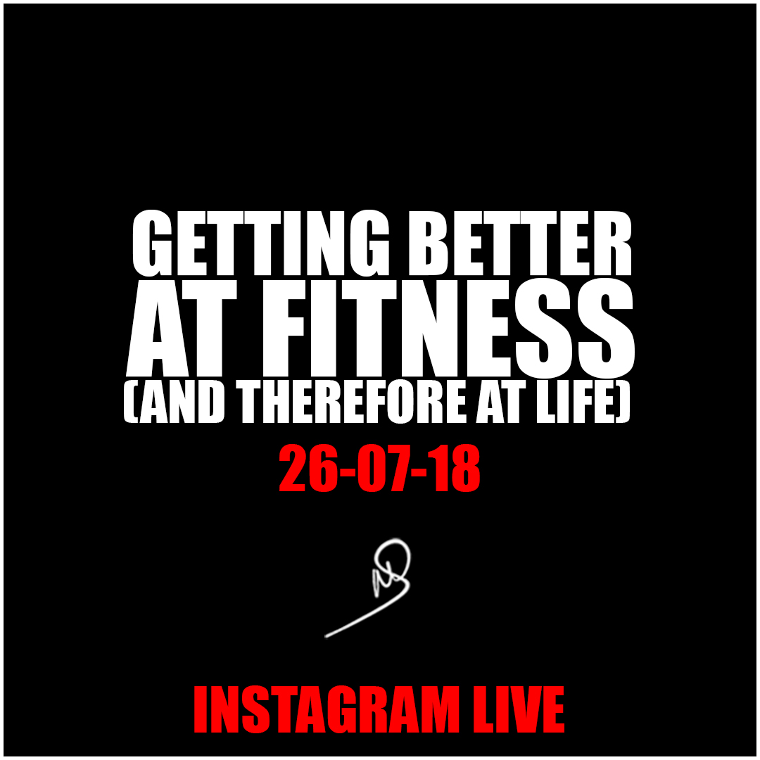 Getting better at fitness – Instagram live